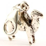 Camel Sterling Silver Clip On Charm - With Clasp